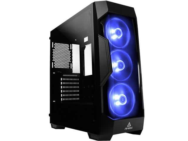 Antec Dark Fleet series DF500 RGB Black Tempered Glass Mid Tower Case $50 AR @Newegg Phanteks P400 Anthracite Grey TG Mid Tower also