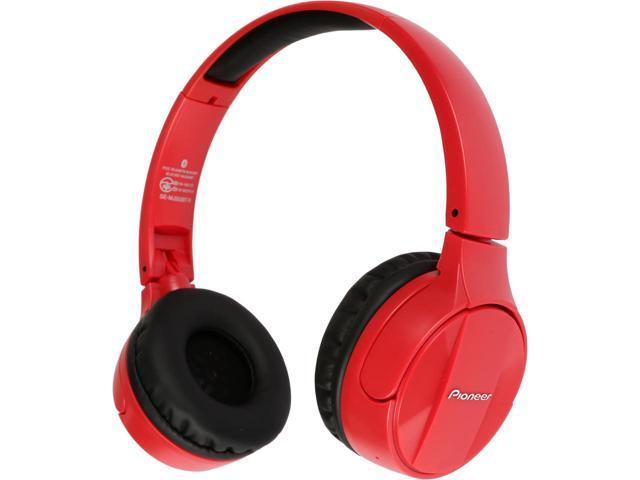 Pioneer Bluetooth Lightweight On Ear Wireless Stereo Headphones, Red SE-MJ553BT(R) $39 AC @Newegg