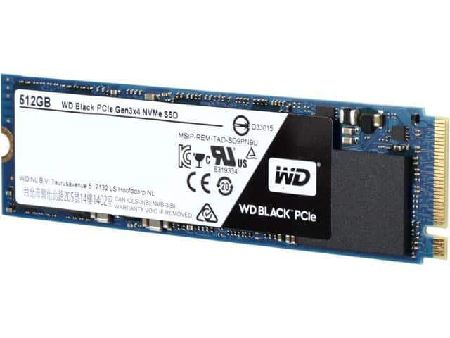 WD Black 512GB Performance SSD - M.2 2280 PCIe NVMe Solid State Drive SSD $145 AC @Newegg $270/2