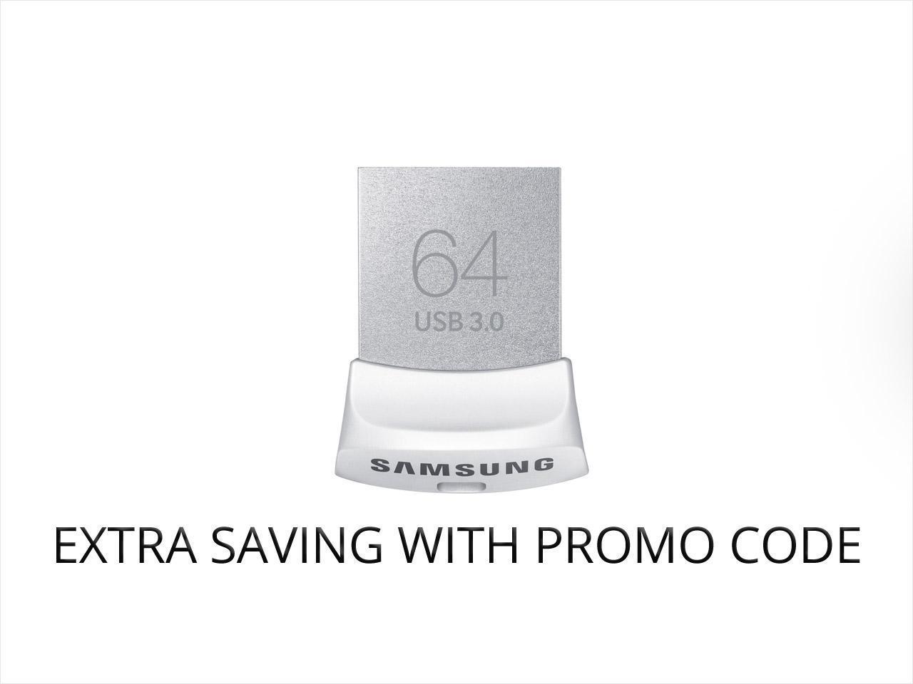 Samsung 64GB FIT USB 3.0 Flash Drive $18 AC @NF