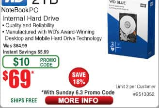 "2TB WD Notebook PC 2.5"" Hard Drive $69 AC @Frys (starts 6/3)"