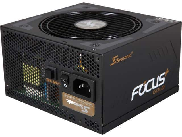 1000W Seasonic FOCUS Plus SSR-1000FX 80+ Gold Modular Power Supply $130 AR