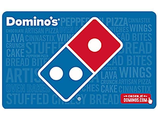 Domino's $25 Gift Card (Email Delivery) + $5GC $25 @Newegg