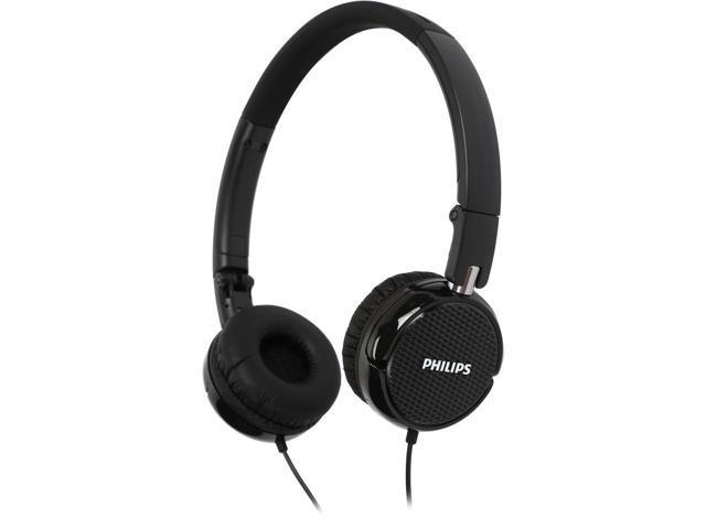 Philips FS3BK On-Ear Black Foldable Headphones $10 @Newegg
