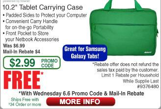 "Inland ProHT 10.2"" Tablet Carrying Case Free after $4 Rebate"