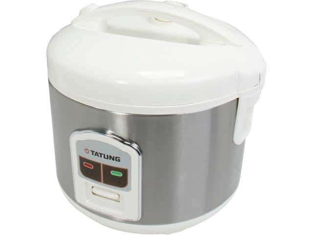 TATUNG TRC-8BD1 White/Stainless 8 Cups Rice Cooker $19- Newegg