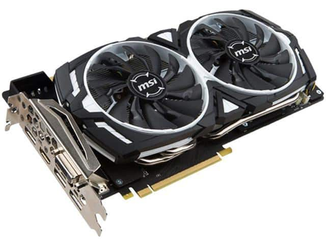 MSI GTX 1070 Armor Video Card $410 AR @Newegg