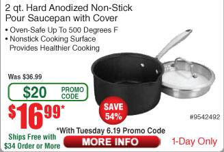 Cuisinart 2 qt.DSI19-18P Hard Anodized Saucepan with Cover $17 AC @Frys