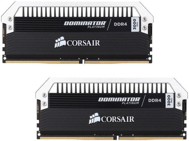 CORSAIR Dominator Platinum 16GB (2x 8) DDR4 3000 Desktop Memory Kit $192AC @Newegg