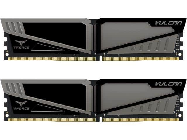 Team T Force Vulcan 16gb 2x 8 Ddr4 2400 Desktop Sdram Memory 140