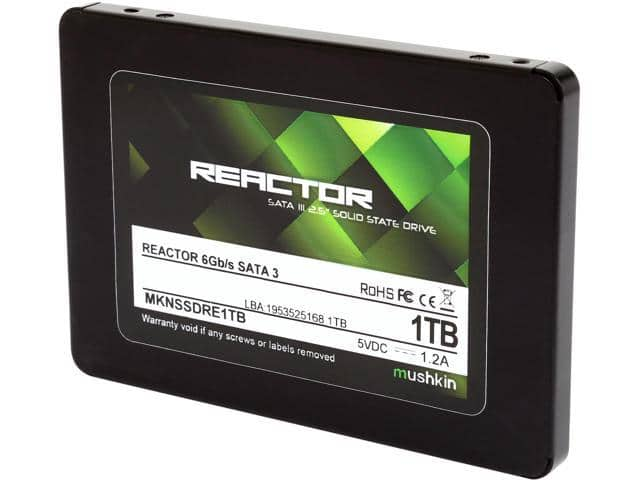 "1TB Mushkin Enhanced Reactor 2.5"" SSD $203 AC @Newegg 960GB/ 182.74 AC"