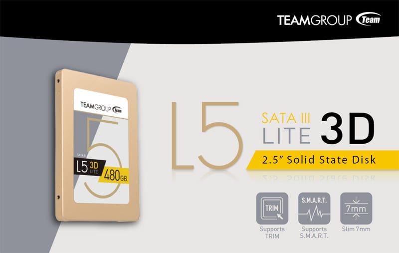 "480GB Team Group L5 LITE 3D 2.5"" SSD $76 AC @Newegg"