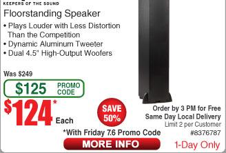 Klipsch R-24F Floorstanding Speaker $124 AC @Frys (7/6)