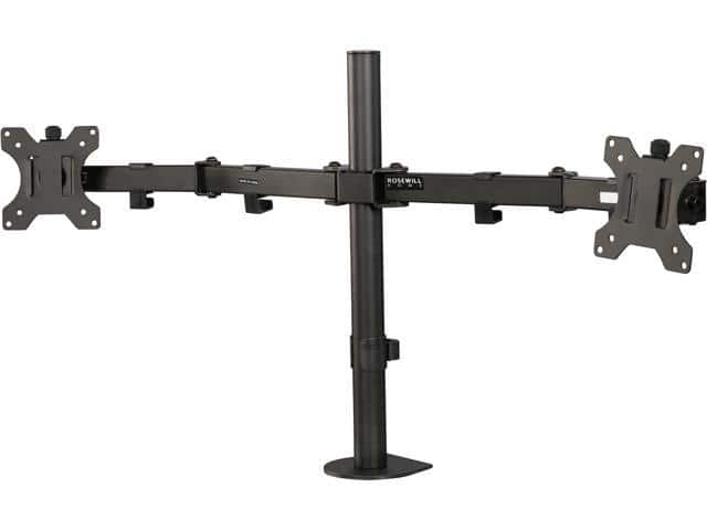 """Rosewill RMS-17001 Dual Arm Desk Mount for up to 32"""" Display $25 AC @Newegg"""