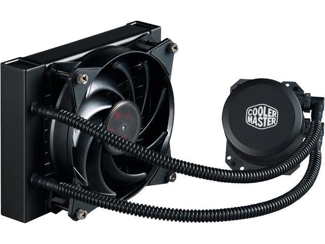 Cooler Master MasterLiquid Lite 120 AIO CPU Liquid Cooler, White Led Pump $35 @Newegg