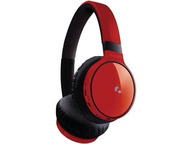 Philips SHB9100 Bluetooth Wireless On-Ear Headphones (Red) $20@Newegg