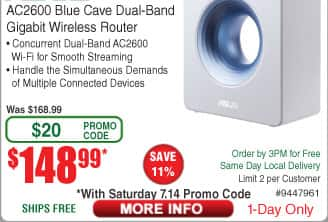 ASUS Blue Cave AC2600 Dual Band Router $149 AC @Frys