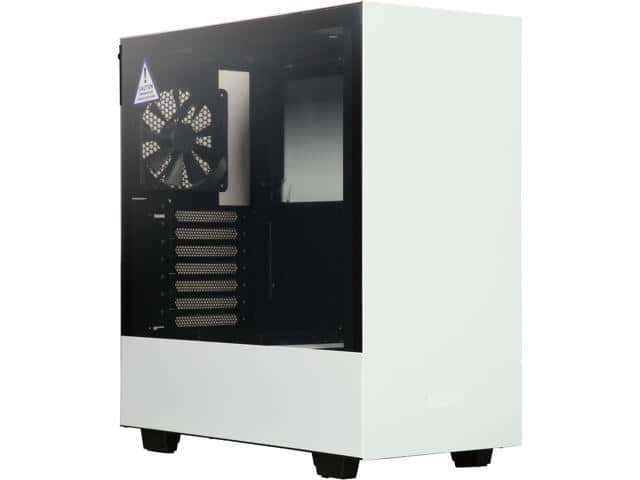 NZXT H500 Matte White/Black Tempered Glass Mid Tower Case $59.59 AC @Newegg