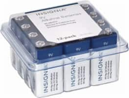Insignia™ 9V Alkaline Batteries (12-pack)  $9 @BestBuy  12-pk C | D $9