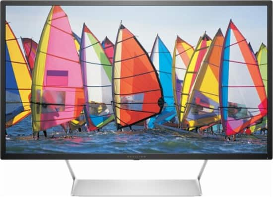 """HP - Pavilion 32"""" LED WQHD Monitor - Black with Silver stand $300 @BestBuy"""