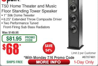 Polk Audio T50 Floor Standing Tower Speaker $68 AC @Frys (7/16)