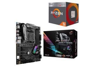 AMD RYZEN 5 2400G Quad-Core 3.6 GHz APU + Asus ROG Strix B350-F Gaming AM4 Motherboard $230 @Newegg