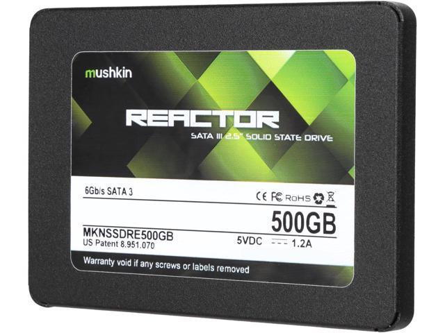 "Mushkin Enhanced Reactor 2.5"" 500GB SSD + $10 GC $99 AC @Newegg"