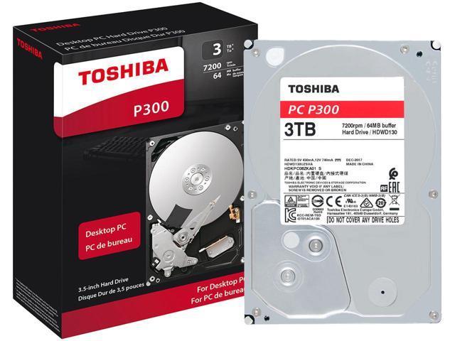 3TB Toshiba P300 7200RPM Desktop PC Internal Hard Drive $65 AC @Newegg