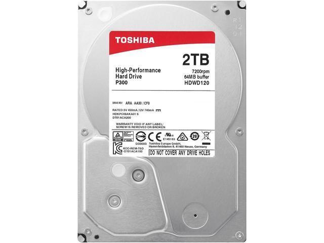 "2TB Toshiba P300 3.5"" 7200 RPM Internal Hard Drive $49 AC @NF"