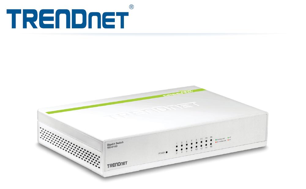 TRENDnet TEG-S16D 16-Port Gigabit GREENnet Switch $40 AC @NF
