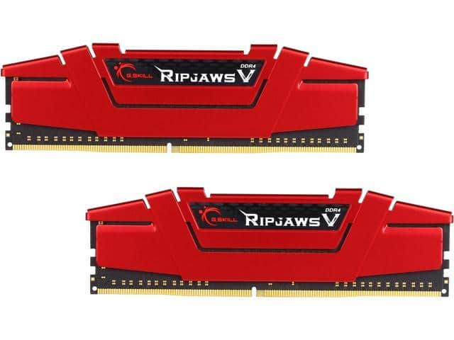 16GB (2x 8) G.SKILL Ripjaws V Series DDR4 3000 RAM F4-3000C15D-16GVRB $120 @Newegg 16GB DDR4 3200 also $120