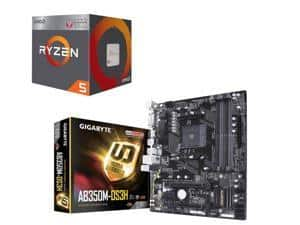 AMD RYZEN 5 2400G Processor + GIGABYTE AB350M-DS3H AM4 Motherboard $185 @Newegg