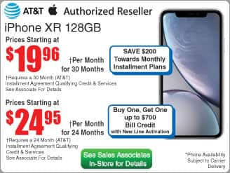 Apple iPhone XR for AT&T with 128GB Memory White $600 (24 | 30mo) @Frys (in-store) (starts 11/18)