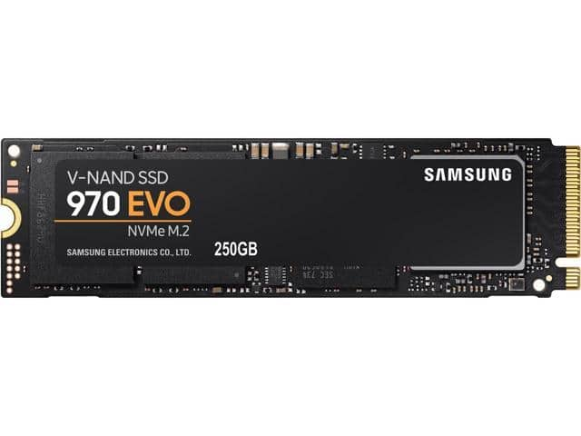 250GB Samsung 970 EVO m.2 nVME SSD $70 AC @Newegg