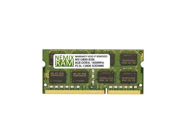 8GB Nemix DDR3L 1600 SO-DIMM Laptop RAM $40 @NF  (2x 4) / $39