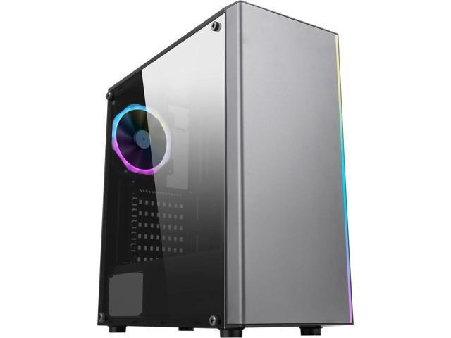 DIYPC Jax-RGB Steel/ Tempered Glass ATX Mid Tower Gaming Case + RGB Case Fan $40 @Newegg