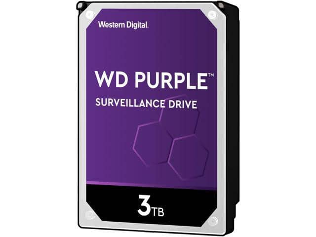 3TB WD Purple Surveillance Hard Drive $80 AC @Newegg (app/mobile