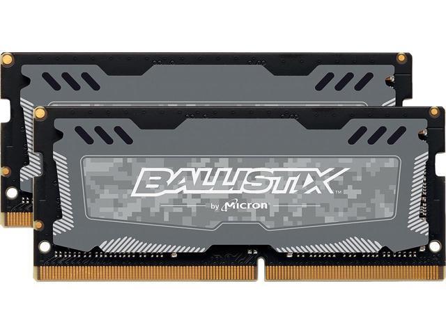 32GB (2x 16) Crucial Ballistix DDR4 2666 SO-DIMM Laptop Ram Kit $150 AC @Newegg