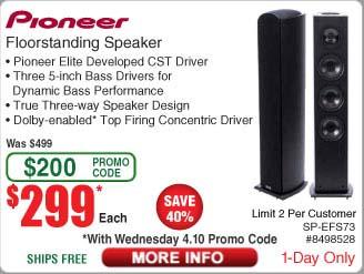 PIONEER SP-EFS73 Each Dolby Atmos enabled Floorstanding Speaker