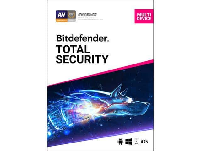 Bitdefender Total Security 2019 - 5 Devices / 1 Year (+H&R BLOCK Tax Software Deluxe + State 2018)  $30 AC @Newegg