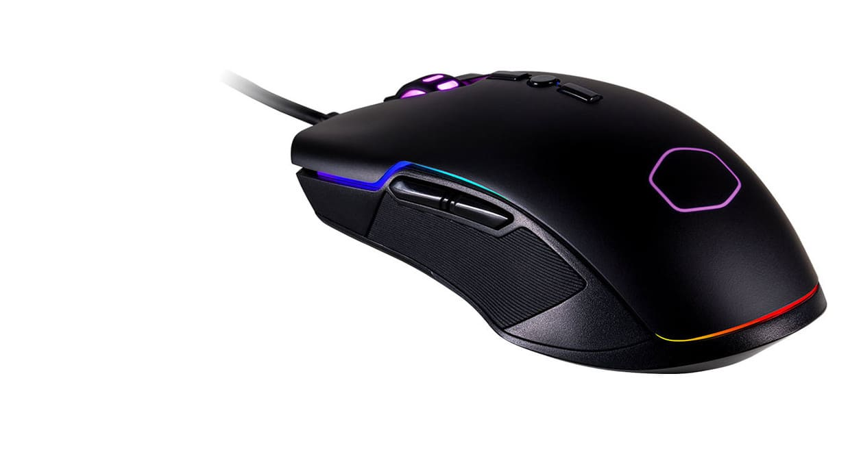 COOLER MASTER CM310 Black Wired Optical RGB Gaming Mouse $10 AR @NF