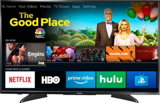 """Toshiba 43LF621U19 - 43"""" Class LED - 2160p – Smart 4K UHD TV with HDR – Fire TV Edition - Black $200 or less"""