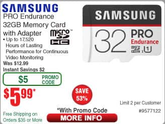 32GB Samsung Pro Endurance U1 microSDHC Memory w/ Adapter $6 AC @Frys (in-store)
