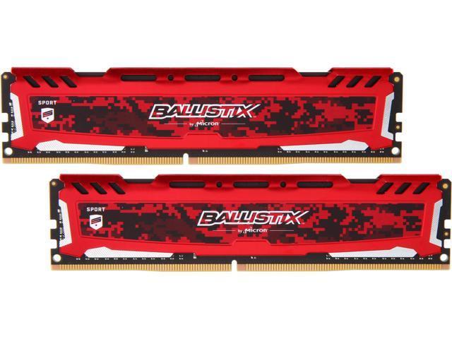 16GB (2x 8)  Crucial Ballistix Sport LT  DDR4 3200 Desktop Memory Kit $80 AC @Newegg