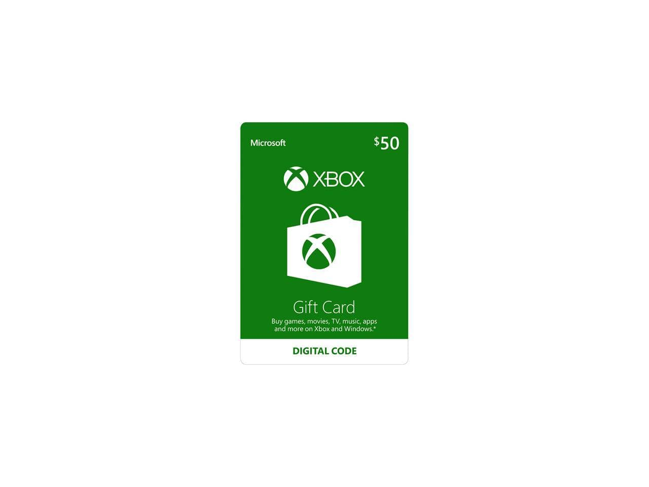Xbox Gift Card $50 US (Email Delivery) +  Xbox LIVE 3 Month Gold Membership US (Digital Code) $50 @Newegg