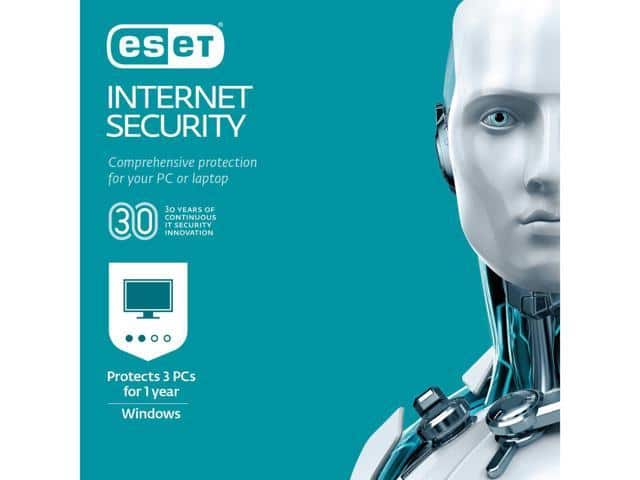 ESET- Internet Security 2019 3 PCs (Product Key Card) $15 @Newegg