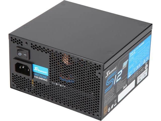 Seasonic S12III 450 450W 80 PLUS Bronze Power Supply $20 AR @Newegg