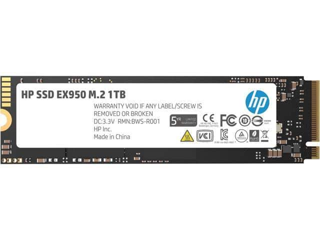 HP EX950 1TB M.2 2280 NVMe SSD $150 @Newegg  HP EX920 256GB   / $40