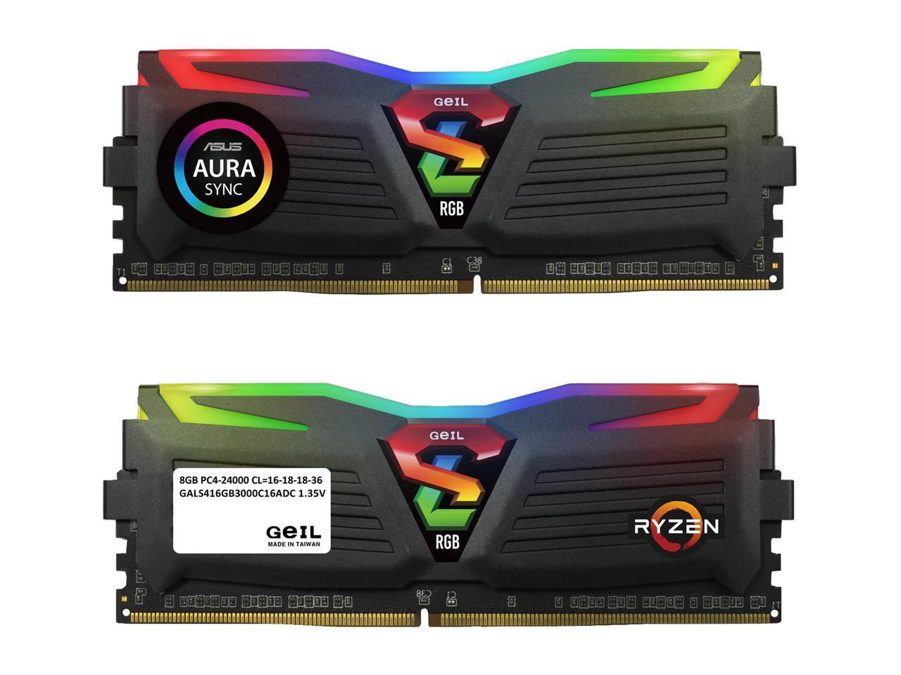 16GB (2x 8) GeIL SUPER LUCE RGB SYNC DDR4 3000  AMD Edition Desktop RAM Kit $78 @Newegg
