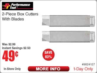 Performace Tool 2-pc Box Cutters w/Blade $0.49 @Frys